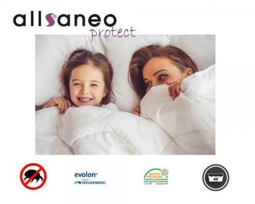 allsaneo Protect Steppbett 135x200 cm mit allergendichtem Bezug für Allergiker