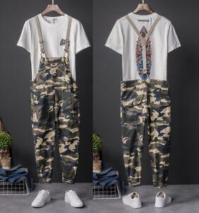 Fashion-Men-Casual-Camo-Bib-Overalls-Cotton-Dungarees-Suspenders-Jumpsuits-Pants