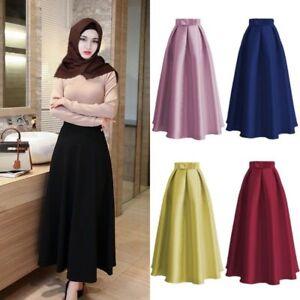 682dd35e94 Muslim High Waist Women Tutu Skirts Vintage Style Princess Bow Long ...