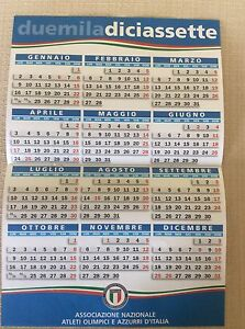 Calendario Sportivo.Dettagli Su Calendario Sportivo 2017 Atleti Azzurri D Italia