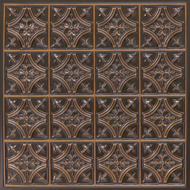 Pvc Faux Tin Decorative Ceiling Tile
