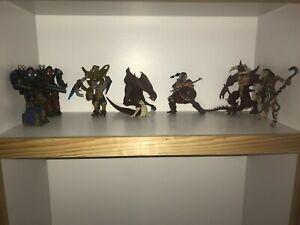 LOT-OF-7-Blizzard-Action-Figures-Starcraft-Diablo-Terran-Zerg-Protoss-etc