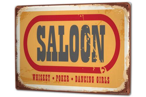 Blechschild XXL Fun Saloon