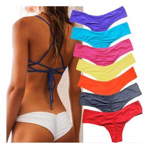 nuovo concetto b4067 c03c1 Dettagli su Donne Sexy Costume da Bagno Bikini Brasiliano Provocante  Pantalone V-Thong