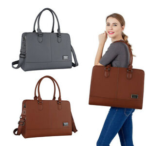 Laptop-Tote-Bag-for-Women-Girl-Premium-Leather-Work-Travel-Shoulder-Handbag-2018