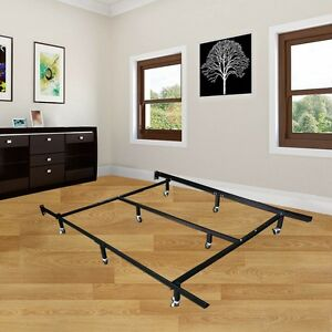 image is loading platform metal bed frame mattress foundation adjustable queen