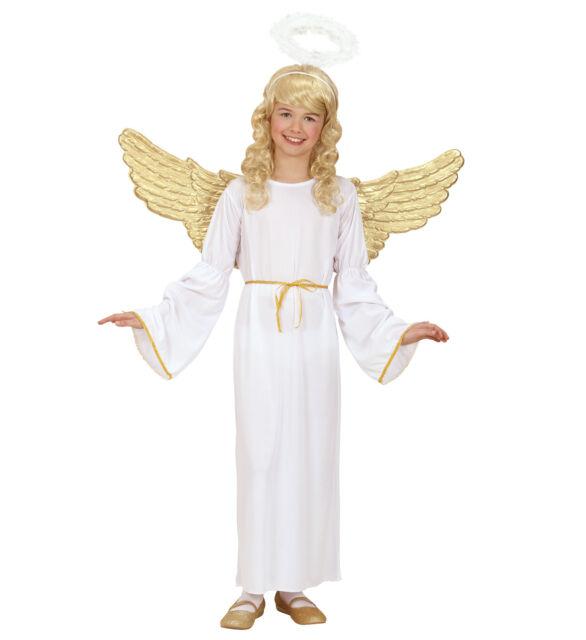 Widmann Kinder Engel Kostüm (Kleid, Gürtel, Heiligenschein) Weihnachten Karneval