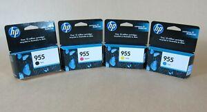 [1378*] Four (4x) HP 955 Inks K,C,M,Y INKS - 3 Year Warranty ( RRP>$175 )