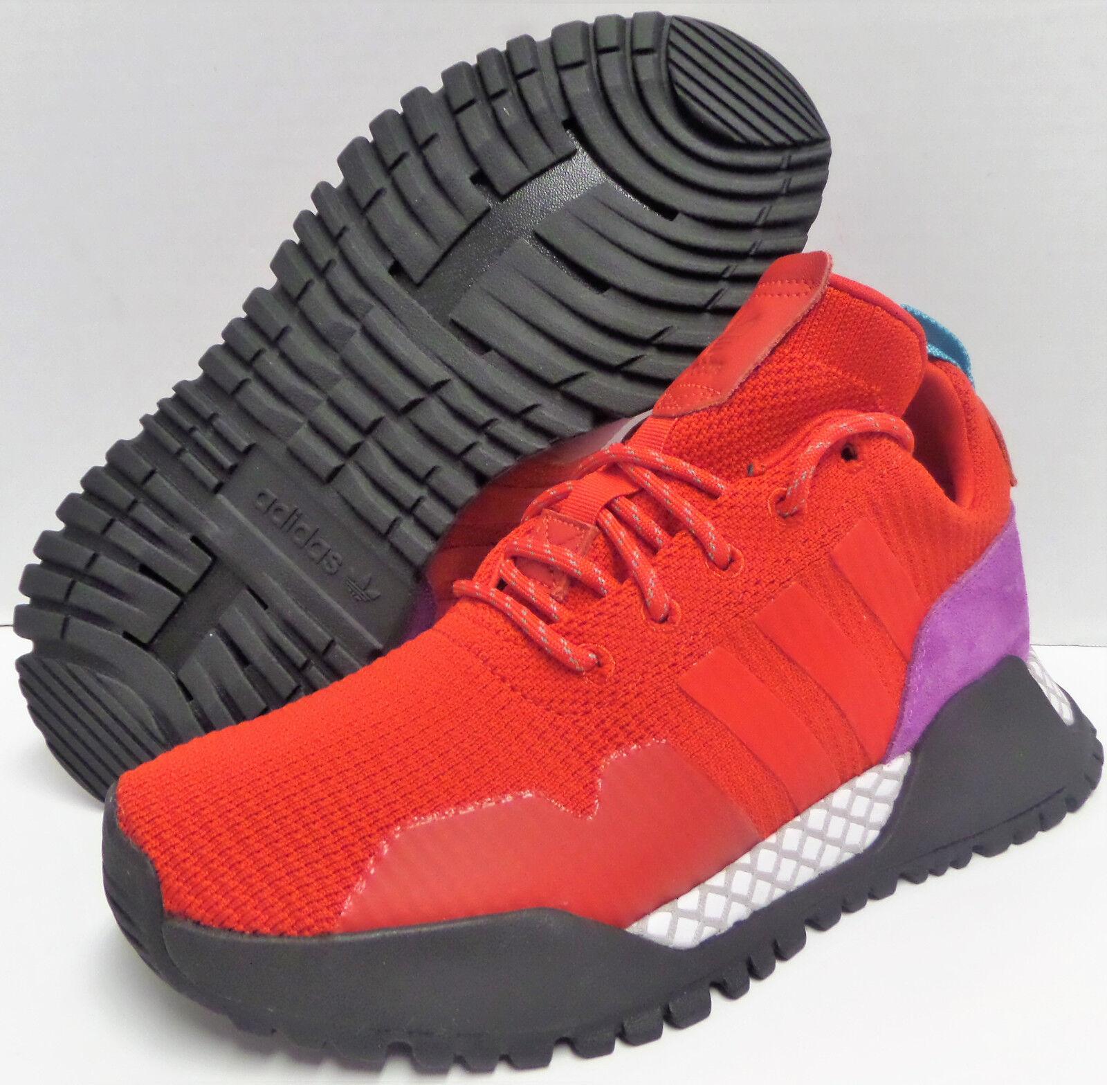 Hombre adidas Originals F / primeknit bz0614 formadores zapatillas rojo