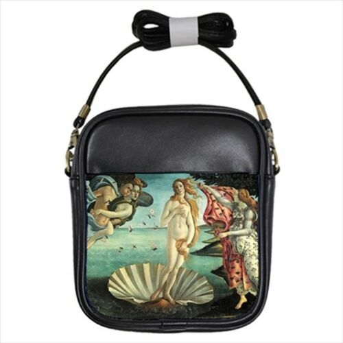 The Birth of Venus Sandro Botticelli Leather Sling Bag /& Women/'s Handbag Paint