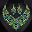 Fashion-Bib-Choker-Crystal-Pendant-Statement-Necklace-Earrings-Party-Jewelry-Set thumbnail 21