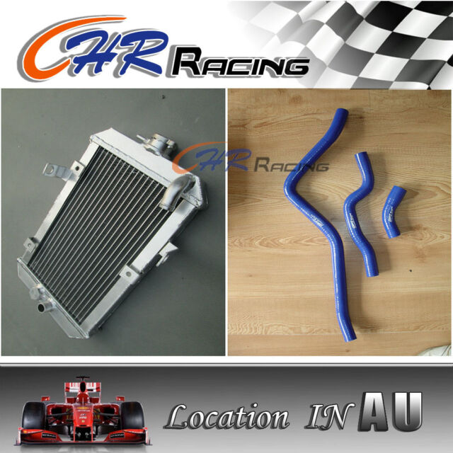 for Yamaha Raptor 660R/660 R  YFM660R ATV 2002-2005 aluminum radiator and hose
