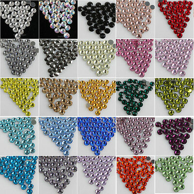 288pcs color Hot fix flatback Crystal glass faceted Rhinestones beads SS30 6mm