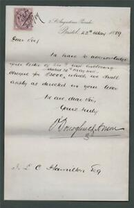 LETTER-from-O-039-Donoghue-amp-Anson-Bristol-1889-I-L-Hamilton-zb-97