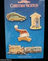 National Lampoon's Christmas Vacation 5 Pk Mini Ornamentsgriswold Familynwt