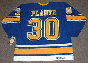 premium selection 1379f 57178 Details about JACQUES PLANTE St. Louis Blues 1968 CCM Vintage Throwback NHL  Hockey Jersey