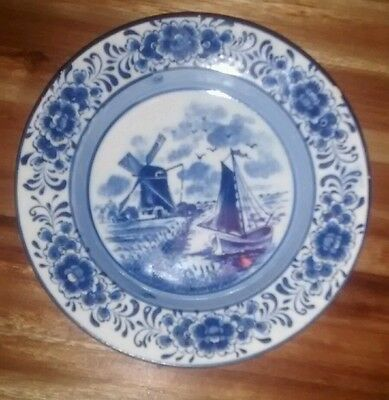 Pottery & Glass Vintage Royal Delfts Blauw Handwork Small Plate To Prevent And Cure Diseases Pottery & China
