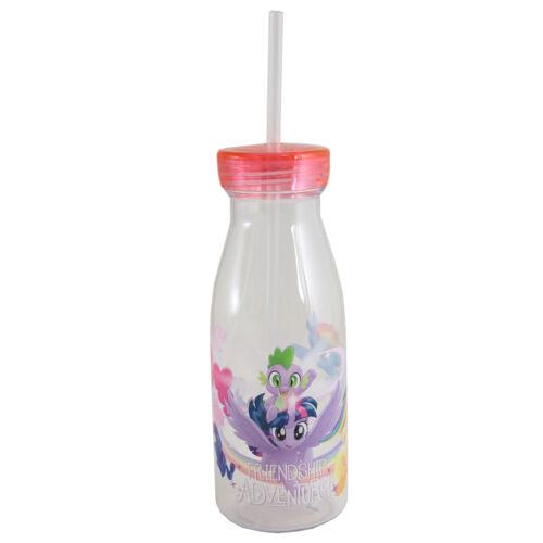 Children/'s personnage plastique bouteille de lait avec couvercle et paille-Mon Petit Poney