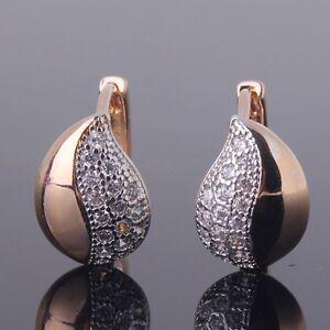 18k-gold-Platinum-filled-White-sapphire-wedding-modish-promise-hoop-earrings