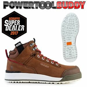 Scruffs SWITCHBACK BROWN Safety Hiker Work Boots Sizes 7-12 Mens Steel Toe Cap