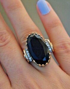 Turkish Handmade Jewelry Sterling Silver 925 Quartz Ring Ladies 6 7 8 9