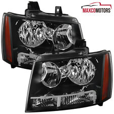 Black For 2007 2014 Chevy Avalanche Suburban Headlights Signal Lamps Leftright Fits 2007 Chevrolet Suburban 1500