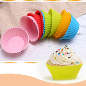 6-12ps-Reusable-Silicone-Muffin-Cases-Baking-Cup-Cupcake-Wrapper-Liner-Cake-Mold