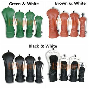 Craftsman-Golf-Wood-Club-Headcover-Set-4-Colors-For-Taylormade-Cobra-Titleist