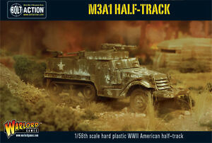 WARLORD GAMES  KONFLIKT 03947  BOLT ACTION  M3A1 HALF TRACK - <span itemprop=availableAtOrFrom>gloucester, United Kingdom</span> - WARLORD GAMES  KONFLIKT 03947  BOLT ACTION  M3A1 HALF TRACK - gloucester, United Kingdom