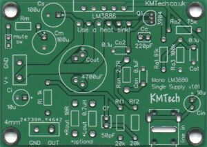 LM3886-SINGLE-SUPPLY-Mono-Amplifier-Chipamp-Gainclone-PCB-only-DIY-Audiophile