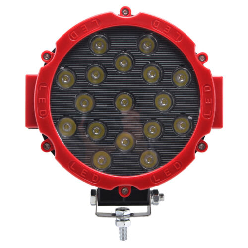 10X 7inch 51W Round LED Work Light SPOT Off-road Fog Driving 4X4WD Boat Jeep Red