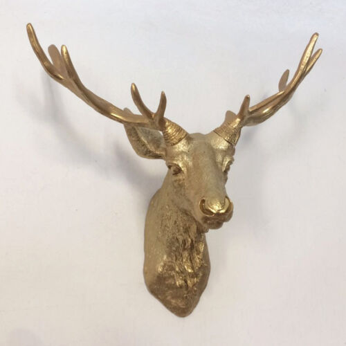 Deer Head Funky /& Fashionable White Stag wall mounted approx W:450mm H:400mm