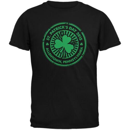 Patrick/'s Day Allentown PA Black Adult T-Shirt St
