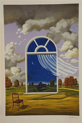 Rafal Olbinski Nocturne in E Flat Major Signed Numbered Fine Art Lithograph S2