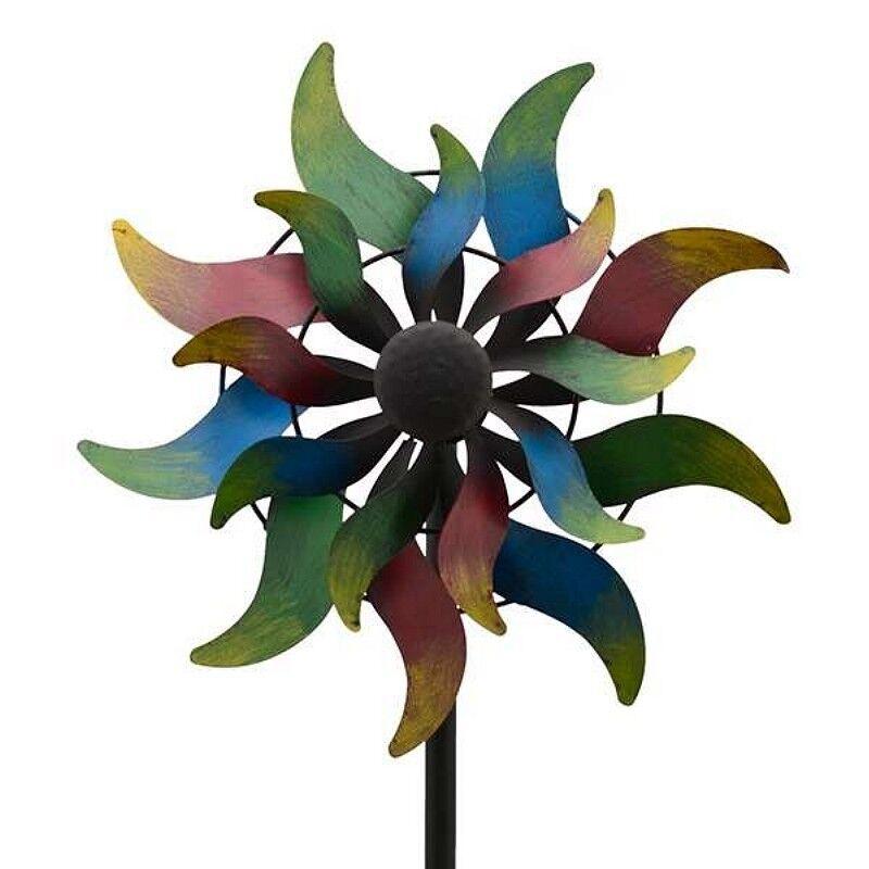 LUNA MEGA großes Windrad Windspiel Sonne Metall 167,5 cm Ø 36 cm   Schön geformt    Sonderpreis    Qualität und Quantität garantiert