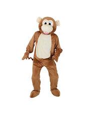 Adult Big Head Cheeky Monkey Fancy Dress Mascot Costume Jungle Animal Unisex BN