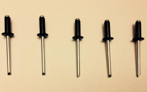 500 noir standard bride 3.2 4.0 4.8 mm Pop Rivets en acier allié Dome Head Rivet