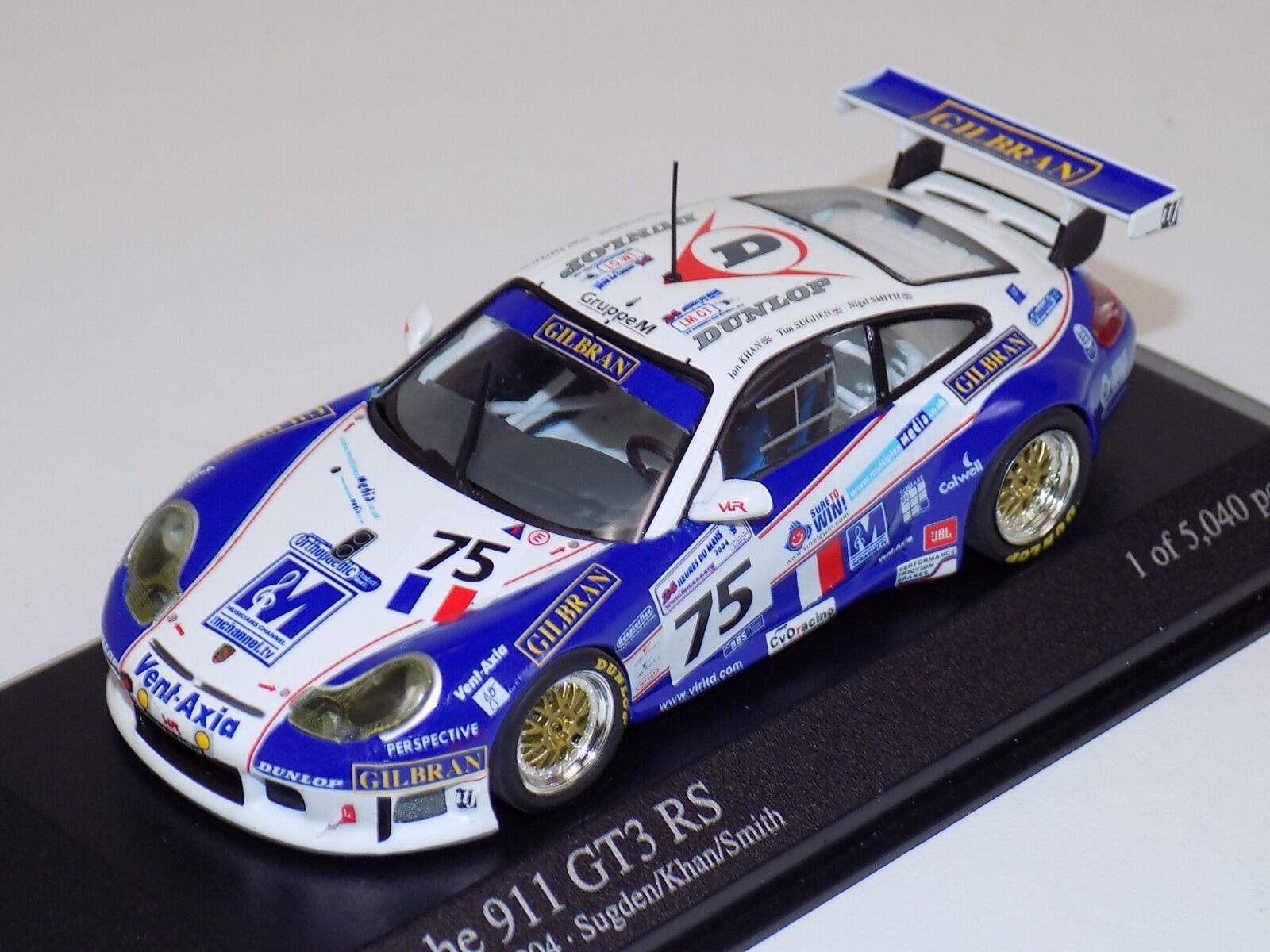 1 1 1 43 Minichamps PORSCHE 911 GT3RS 2004 24 Lemans coche  75 e06b54