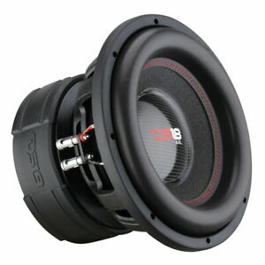 Red Aluminum Frame DS18 EXL-XX12.2D Subwoofer in Black 4,000 Max Power Treated Rubber Edge Fiber Glass Dust Cap 1 Speaker 12 Speaker 2,000 RMS Power Dual Voice Coil 2+2 Ohm Impedance