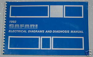 details about 1992 gmc safari van sle slt electrical wiring diagrams \u0026 diagnosis shop manual 95 GMC Wiring Diagram