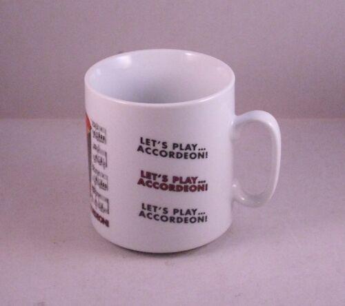 Kaffeebecher Becher Tasse Henkelbecher Akkordeon Noten Musik