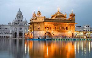 Framed-Print-Golden-Temple-Amritsar-Punjab-India-Sikh-Religion-Picture-Art