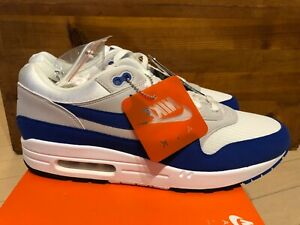 Details about 2017 Nike Air Max 1 Anniversary Game Royal Blue White Grey sz 12