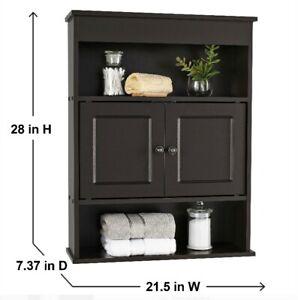 mainstays 29 inch wood bathroom wall mounted storage