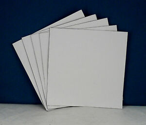 "SILVER Corrugated Plastic 18/"" x 24/"" 4mm Coroplast School Art blank PACK 5"