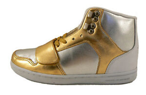 Creative Recreation Womens Gold Silver Cesario Hi Top Gym Shoes Sneakers 5.5 NIB