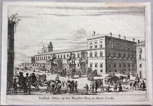 1681ca-Monte-Cavallo-QUIRINALE-ROME-Rare-View-Willem-swidde-Nicolaes-Visscher
