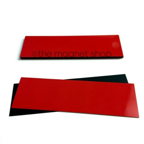 30mm x 100mm Pack of 10 Magnetic Dry Wipe Labels Whiteboard Precut