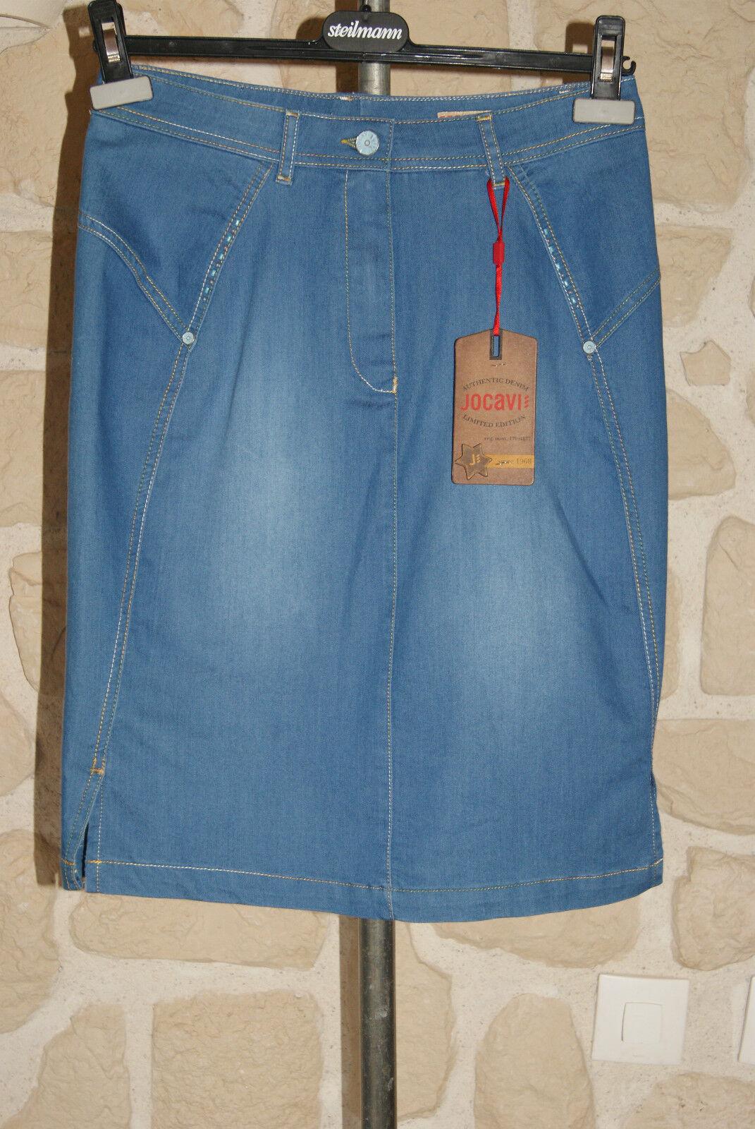 Jupe en jeans neuve size 42 marque JOCAVI étiqueté à