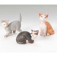 Roman, Inc. Fontanini Village Cats Figurines, Set of 3 (51518)
